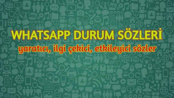 WhatsApp Durum Sözleri 2021 Etkileyici WP Durumları